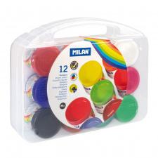 """Guašas 12 spalvų  """"Milan 40"""", 40ml plastiko dėžutė"""