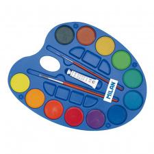 "Akvarelė 12 spalvų ""Milan"" D45mm"