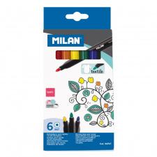 """Flomasteriai """"Milan 667"""" tekstilei, 6sp"""