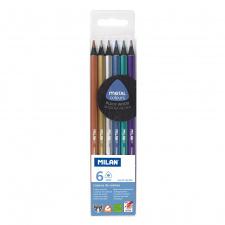 """Spalvinimo pieštukai """"Milan 1031"""", tribriauniai, 6sp"""