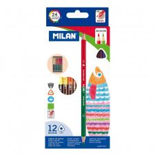"""Spalvinimo pieštukai """"Milan 1131"""", tribriauniai 12sp"""