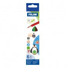 """Spalvinimo pieštukai """"Milan 231"""", tribriauniai, 6sp"""