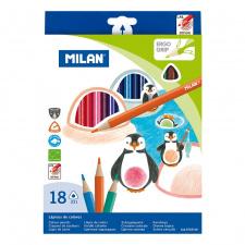 """Spalvinimo pieštukai """"Milan 231"""", tribriauniai, 18sp"""