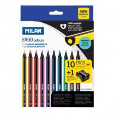 """Spalvinimo pieštukai """"Ergo"""", ergonomiški, 10sp"""