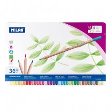 """Spalvinimo pieštukai """"Milan 213"""", šešiabriauniai, 36sp"""