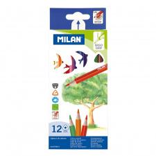 """Spalvinimo pieštukai """"Milan 231"""", tribriauniai, 12sp"""