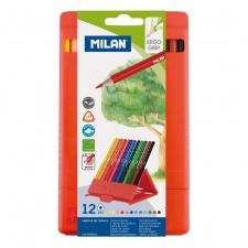 """Spalvinimo pieštukai """"Milan 231"""", tribriauniai, su pieštukinė, 12sp"""