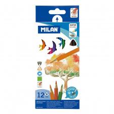 """Akvareliniai pieštukai """"Milan 431"""", su teptuku, 12sp"""
