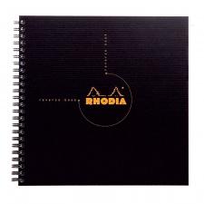 """Užrašų knygelė """"Rhodia"""" reverse book, A5, langeliai, spirale"""