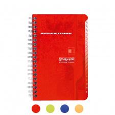 """Užrašų knygelė """"Calligraphe"""" 11x17, langeliai-indeksai, 90l, spirale"""