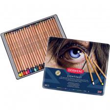 "Derwent pieštukai spalvinimui ""LightFast"", 24 spalvų"
