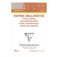 "Milimetrinis popierius ""Clairefontaine"" 90 g, A3, 50 l."
