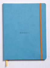 Užrašų knygelė RHODIA NOTEBOOK PER COLOR (A4 formato, linijomis, turkio)