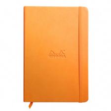 Užrašų knygelė Clairefontaine Rhodia Rama A5 90g/m 96 lapai, oranžinė