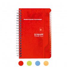 """Užrašų knygelė """"Calligraphe"""" 11X17, langeliai-indeksai, 50l, spirale"""