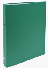 Segtuvas 2 žiedų 30mm, A4  dengtas PP, žalias