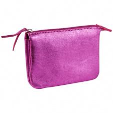 """Odinė piniginė """"Cuirise"""" 13x9cm, stačiakampio formos, rožinė"""