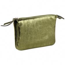 """Odinė piniginė """"Cuirise"""" 13x9cm, stačiakampio formos, žalia"""