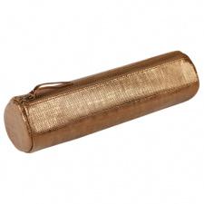 "Odinė kosmetinė ""Celeste"" Ø5,5x22cm, ovali, bronze"