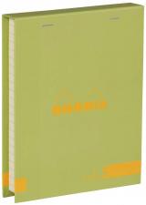 """Bloknotų rinkinys """"Rhodia Color"""", siūta, linijos, 2 pieštukai, žalia"""