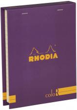 """Bloknotų rinkinys """"Rhodia Color"""", siūta, linijos, 2 pieštukai, violetinė"""