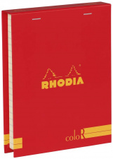"""Bloknotų rinkinys """"Rhodia Color"""", siūta, linijos, 2 pieštukai, raudona"""