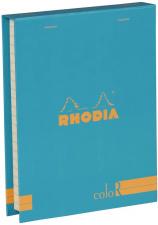"""Bloknotų rinkinys """"Rhodia Color"""", siūta, linijos, 2 pieštukai, šv.mėlyna"""