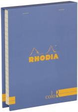 """Bloknotų rinkinys """"Rhodia Color"""", siūta, linijos, 2 pieštukai, mėlyna"""