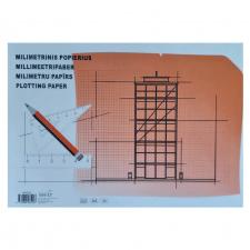 Milimetrinis popierius  A4, 20 l.