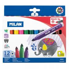 "Flomasteriai ""Milan Maxi 641"" 12sp"