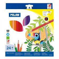 """Spalvinimo pieštukai 24 spalvų """"211 Milan"""""""