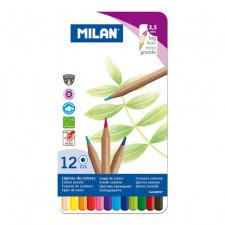 """Spalvinimo pieštukai """"Milan 213"""", šešiabriauniai, 12sp"""