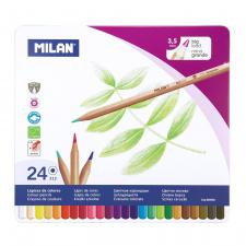 """Spalvinimo pieštukai """"Milan 213"""", šešiabriauniai, 24sp"""