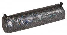"""Odinė kosmetinė """"Celeste"""" Ø5,5x22cm, ovali, lazer black"""
