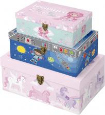 """Dovanų dėžutė """"Euro-X"""", 3 dydžių, spynelė, berniukas ir mergaitė"""