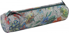 """Odinė kosmetinė """"Celeste"""" Ø5,5x22cm, ovali, gėlių mozaika"""