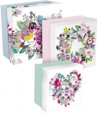 """Dovanų dėžutė """"Blooming"""" 3 dydžių"""