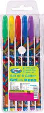 """Geliniai """"Glitter"""" rašikliai  6 spalvos, 1mm"""