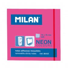 """Lipnūs lapeliai """"Milan"""" 76x76, rožiniai, 100l, neon"""