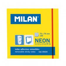 "Lipnūs lapeliai ""Milan"" 76x76, geltoni, 100l, neon"