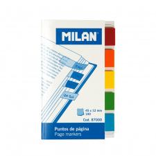 """Lipnūs žymikliai """"Milan"""" 45x12, 5 PP spalvos, 20l"""