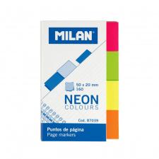 """Lipnūs žymikliai """"Milan"""" 50x20, 4 spalvos, 160l"""