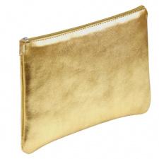 """Odinė piniginė """"Cuirise"""" 22x11cm, stačiakampio formos, auksinė"""