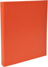 Segtuvas 4 žiedų 30 mm, A4, dengtas PP, oranžinis