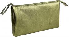 """Odinė kosmetinė """"Cuirise"""" 2 skyrių, stačiakampio formos, šv. žalia"""