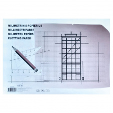"Milimetrinis popierius ""SM-LT"" 90 g, A3, 20 l."