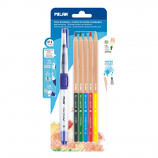 """Akvareliniai pieštukai """"174"""",   5 spalvos+talpa"""