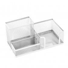 Dėžute , pieštukinė lapeliams, 3 sekciju, balta
