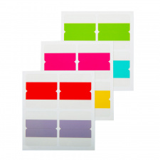 "Lipnūs žymikliai ""d.rect"" 44x40, 6 spalvų, 4x6l"