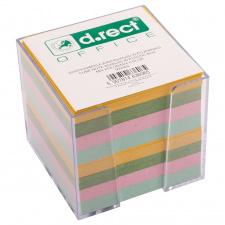 "Lapeliai užrašams ""d.rect"" 85x85x40mm , 4 spalvų, 800l , dėžutėje"